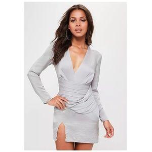 NEW silky long sleeve panel shift dress NWT [B8]